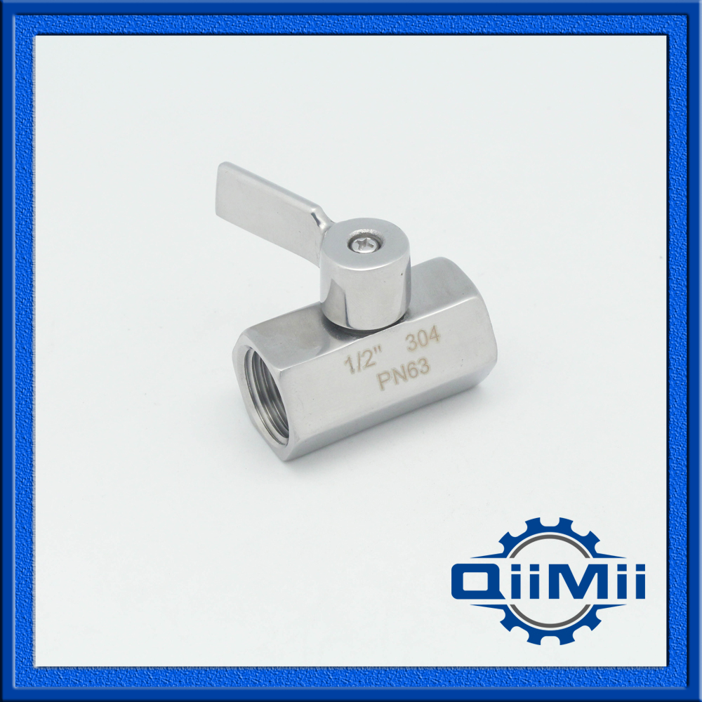 SS304 Sanitary Female to Female NPT Mini Ball Valve Stainless Steel 1pc adapter pl259 uhf plug male nickel plating to bnc female jack nickel plating rf connector straight vc668 p0 5