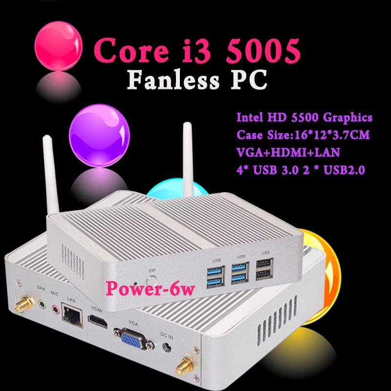 Mini PC i3 5005U Eglobal Nuc Windows 10 Micro Barebone Computer HD 5500 Graphics 4K HTPC 300M Wifi <font><b>Bluetooth</b></font> <font><b>VGA</b></font> HDMI USB 3.0