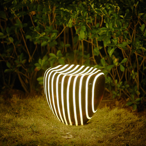 wecus criativo paisagem jardim luz