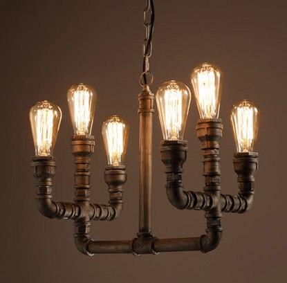 6 lampa trubka styl přívěsek světla umění přívěsek světlo Vintage přívěsek světlo obsahuje Edison žárovky doprava zdarma