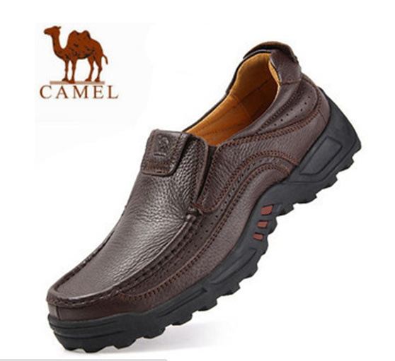 Free Shipping 2015 Classic Men Camel Lazy Loafers Leather Shoes Men's Camel  Casual Shoes Oxford Genuine Leather Shoes for men-in Women's Flats from  Shoes on ...
