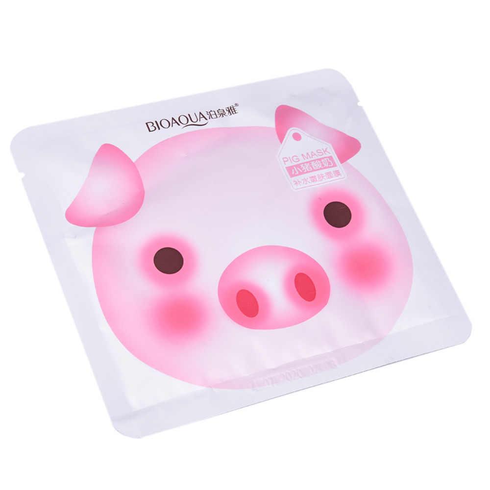 חזיר חמוד יוגורט מסיכת פנים משי נגד קמטים לטיפול בעור לחות מזינה הלבנת שליטת שמן מסיכת מסכת טיפול באקנה