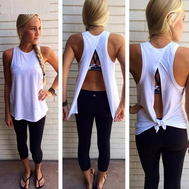 Summer Tops Clubwear Shirt Tank-Top Camis O-Neck Back-Split White Sexy Femme Women Sleeveless