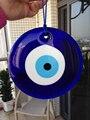 D15cm Turkish Evil Eye Pendente do Encanto de Vidro Parede Pendurado Ornamento do Olho Sorte Amuleto Protetor de Home Office Árabe Islâmico
