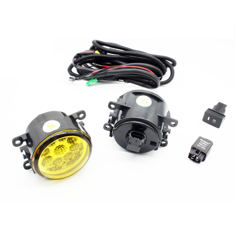 H11 Wiring Harness Sockets Wire Connector Switch + 2 Fog Lights DRL Front Bumper LED Lamp Yellow For VAUXHALL ASTRA Mk IV (G) for suzuki grand vitara 2 jt h11 wiring harness sockets wire connector switch 2 fog lights drl front bumper 5d lens led lamp