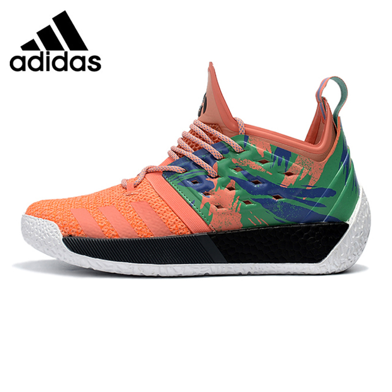 Adidas Harden Vol.2 Men Basketball Shoes, Orange, Shock-absorbing Non-slip Wear Resistant Breathable Lightweight AH2219 цена