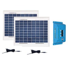 Photovoltaique Panel 12v 10w 2Pcs Solar Camping-Car Car Batterie Solaire Telephone Portable Charge Controller 12v/24v 10A