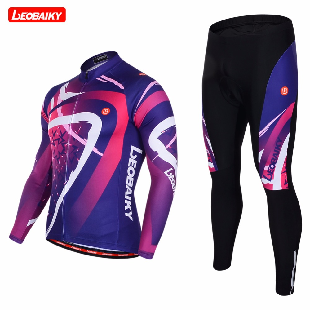 LEOBAIKY 2018 Pro Long Sleeve Cycling Jersey Sets Breathable 3D Padded Sportswear Mountain Bicycle Bike Apparel Cycling Clothing jacques lemans часы jacques lemans 1 1905g коллекция bienne