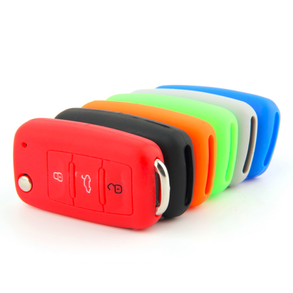 Universal Silicone Car Key Holder Case Cover Candy Color Turma do - Car Interior Accessories - Photo 3