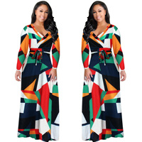 African Dress Women African Clothing Real Polyester 2018 Digital Printing Fashion Dress Sexy Substitutes New