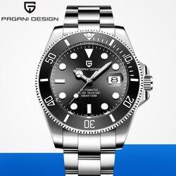 2019 PAGANI дизайнерские брендовые автоматические механические мужские часы Sports100M водонепроницаемые спортивные мужские сапфировые наручные ч...