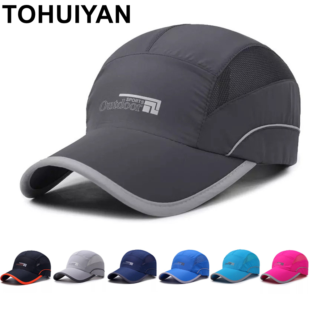 TOHUIYAN 2019 Quick Dry   Baseball     Cap   Fitted   Cap   Snapback Hat For Men Bone Summer Casual Fishing Hat for Women Sports   Caps   Hats