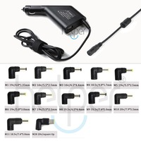 12 Tips Universal Auto Charger for Laptop For Lenovo/Asus/Acer/Toshiba/Gateway/HP 90W Car Charger