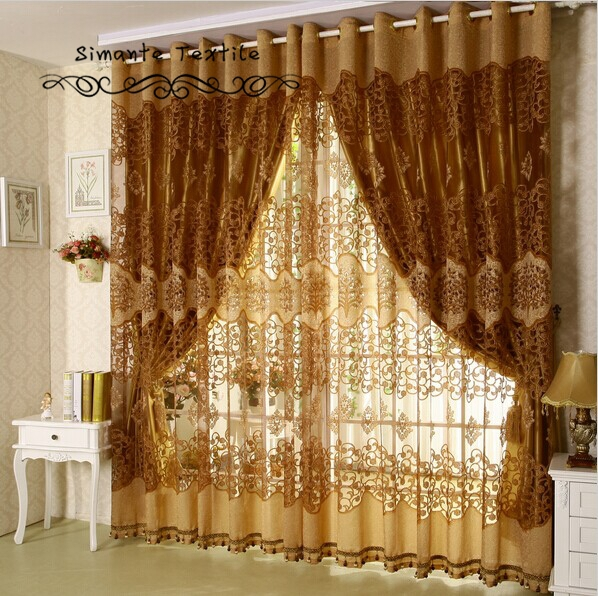 Quality Burnt Out Fashion Modern Sheer Curtains With Blackout Lining For  Windows Free Shipping
