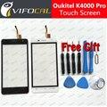 K4000 Oukitel Pro tela de toque + Ferramentas Gift Set 100% Original painel de Digitador de vidro Substituição Conjunto Da tela para telefone celular