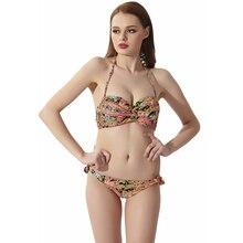 Bath Suit 2 Pieces Women 2019 Sexy Bikini Set Print Low Waist Brazilian Bathing Swimwear Swimsuit Female Beach Wear Biquini