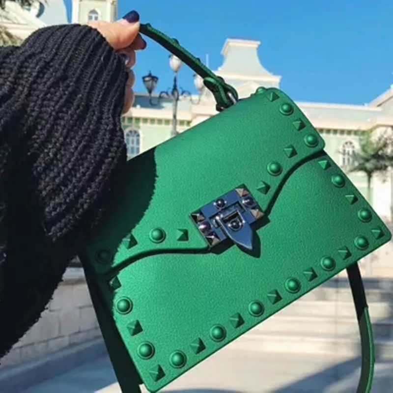 Messenger Bags  PVC Transparent Jelly Bag Summer Girl Beach Bag Chains Shoulder Crossbody Bags