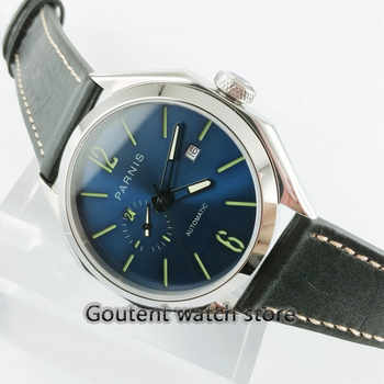 Parnis 43mm 21 jewels MIYOTA 821A Automatic Blue Dial Sapphire glass Miyota 821A Automatic luminous hands Men\'s watch - DISCOUNT ITEM  27% OFF Watches