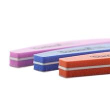 6 Pcs/lot Washable 100/180 Grits Diamond Style Sunshine File Sponge Buffer Sandpapers Half Moon Stick Nail Art Manicure Kit