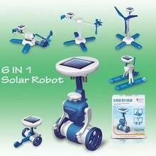DIY solaire jouets 6 in1 solaire robot Nouveau Bébé jouets éducatifs Enfants Nouveauté solaire robots De Voiture Pour Enfants Cadeaux