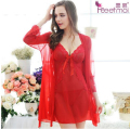 New Arrival Lingerie Sexy robe and gown set femme sleepwear robe and gown evening gown robe