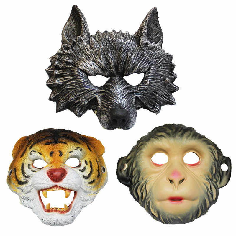 Halloween Masquerade Animal Party Performance Wolf Mask Bar Horror Mask Cos Monkey Tiger Mask Halloween Supplies
