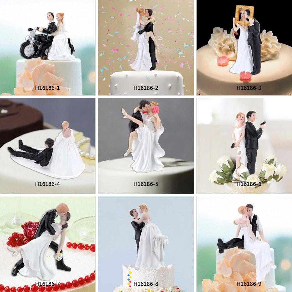 Synthetic Resin Bride & Groom Wedding Cake Topper Romantic Wedding ...