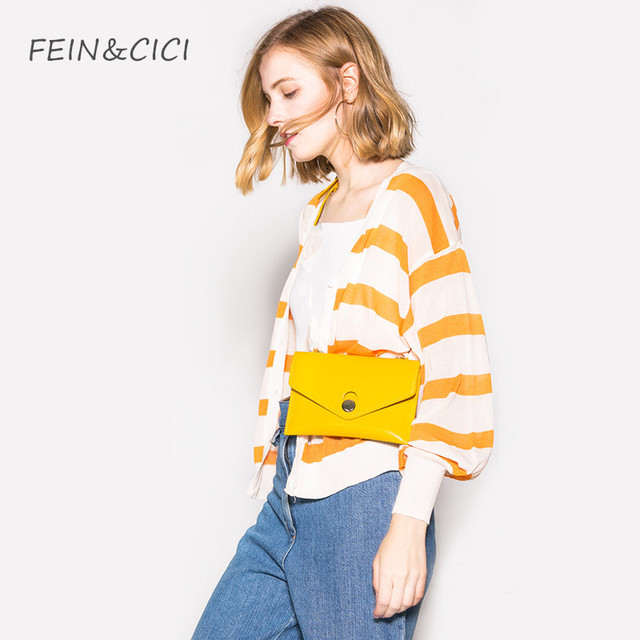 Belt bag waist bag yellow fanny Pack women luxury brand leather black white color 2018 summer hight quality drop shipping