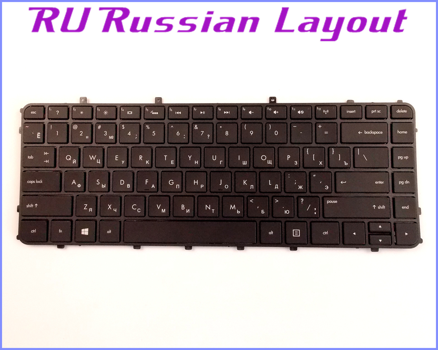 New Laptop US Keyboard for HP Envy 4-1000,6-1000 4-1110us 4-1015DX No Frame