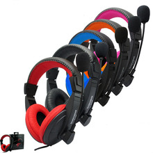 Wired 3.5mm Headset with Microphone Earphones Gaming Belt Game Headphones for Computer PC Laptop High-Definition Microphones