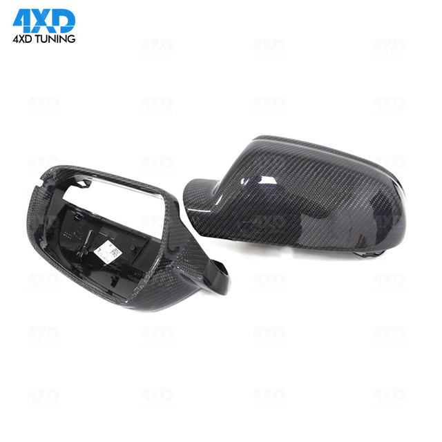 For Audi A4 B8.5 Mirror Cover A5 S5 RS5 Carbon Fiber Mirror Cover Rear View without& with lane assist 2010 2011 2012 2013 - 2015