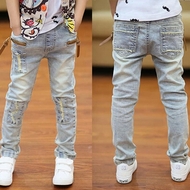 2016 New  Boys Girls Jeans Trousers High Quality Spring Children's Pants Kids Jeans Casual Denim Pants 3-13Y for Students