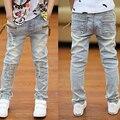 2016 Nuevas Muchachas de Los Muchachos Pantalones Vaqueros de Alta Calidad del Resorte de Los Niños Pantalones Vaqueros Niños Pantalones de Mezclilla Ocasional 3-13Y para Estudiantes