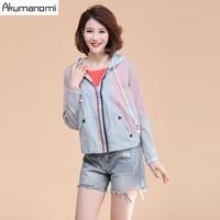 Autumn Blouse Hooded Bule Full Sleeve Women Clothes Pocket zipper Spring Tops Plus Size 5XL 4XL 3XL 2xl Xl L M