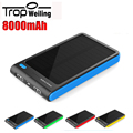 Tropweiling solar battery powerbank 18650 8000mah powerbank solar diy power bank for All phones solar charger for mobile