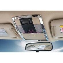 Accessori Per Toyota Land Cruiser Prado 150 LC150 FJ150 2010-2017 Interno Lettore di Lampada di Copertura Trim Chrome Car Styling
