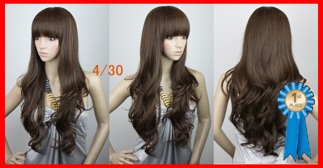 24inches 180g  Indian Blended Hair Silky wavy party wigs for color (#4T33,#4t30,#12,#12B,#1B),free shipping