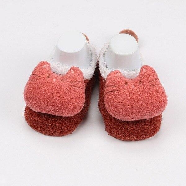 Winter Coral Fleece Socks Child Baby Infant Children Cartoon Doll Feather Yarn Floor Baby Socks cute  Funny Sock 6