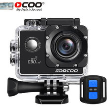 SOOCOO C30R 4K Sports Camera Wifi Gyro 30M Waterproof Adjustable Viewing Angles Bike Video Action Camera 170 Degree Wide Lens