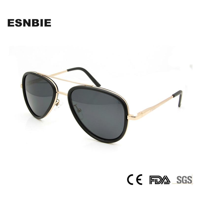 Esnbie nuevo italiano polarizadas Gafas de sol hombres mujeres UV400  hombres piloto Sol Gafas oculos conducción gafas para las mujeres ea65f392e6