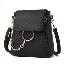 SUONAYI PU Leather Top-handle Women Handbag Solid Ladies Lether