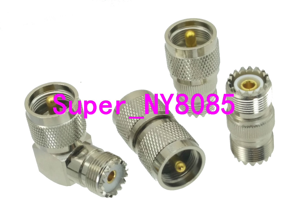 UHF To UHF SO239 PL259 Right Angle Straight 4 Type RF Adapter Connector