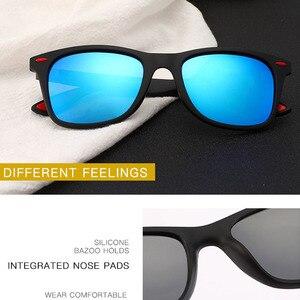 Image 2 - Мужские спортивные солнцезащитные очки с квадратной оправой, поляризационные затемненные цвета, уличные водительские фотохромные солнцезащитные очки с коробкой, очки