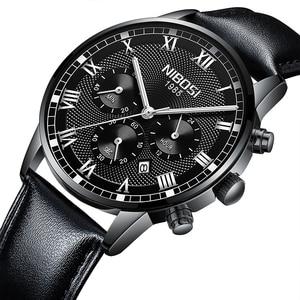 Image 5 - NIBOSI 2019 Neue Quarz Männer Uhr Leder Chronograph Army Military Sport Uhren Uhr Männer Relogio Masculino Männlichen Reloj Hombre