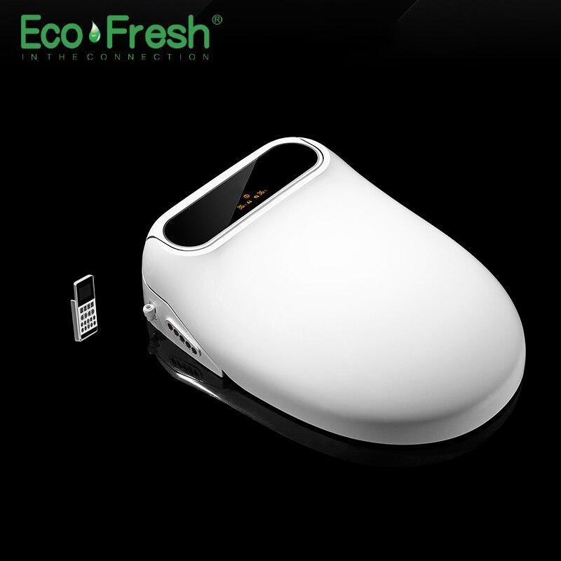 Ecofresh assento do vaso sanitário Inteligente assento do vaso sanitário Elétrico bidé tampa do vaso Inteligente Bidé tampa do assento de calor levou luz auto