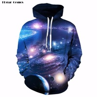 2017 Newest Men Women 3D Hoodies Spring Autumn Unisex Harajuku Sweatshirt Print Galaxy Space Earth Wolf