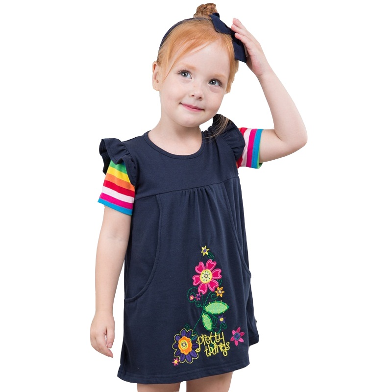 Retail Girls Dresses Baby Girl Dresses Deer Toddler Kids Party Dresses Vestidos Children Clothing Kid Wear Nova SH5802 F5508 поло rps футболка поло