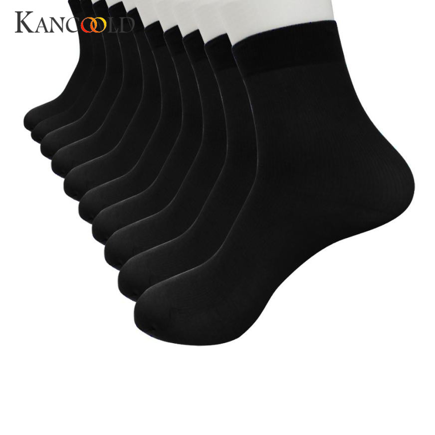 Mens Bamboo Fiber Ultra-thin Elastic Silky Short Silk Stockings Men Socks Mar 14