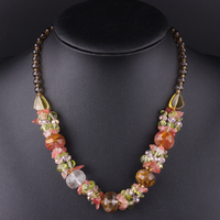 New Fashion Jewelry Crystal Necklace Statement Nature Stone Free Shipping Mix Colors