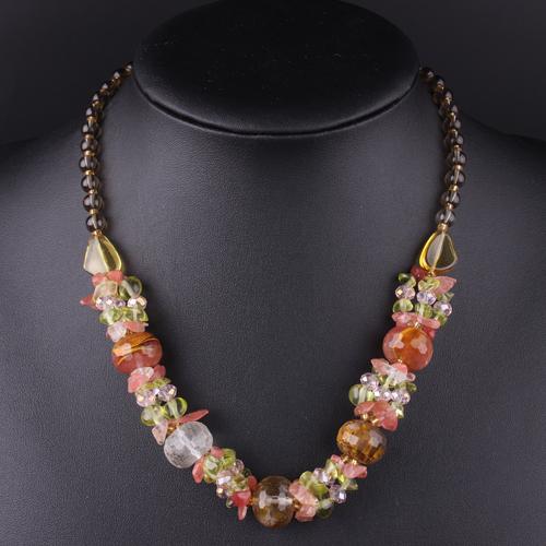Nueva joyería de moda declaración collar cristal naturaleza piedra colores libres del envío Mix